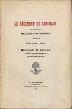 LE REGIMENT DE CARIGNAN BENJAMIN SULTE MELANGES HISTORIQUES VOL. 8