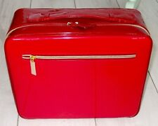 Stunning Estee Lauder Red Patent Make Up / Travel Case