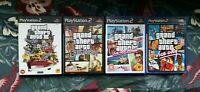Grand Theft Auto PS2 Bundle GTA III, San Andreas, Vice City + VC Stories TESTED
