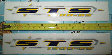 "Set of 2 (7 1/4"" Inch) GT STS 1500-DS Frame/Fork/Down Tube Decal Stickers"