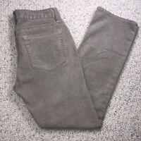 GAP Womens Corduroy Pants sz 4 Average Gray Stretch Slim Fit Straight Leg L60