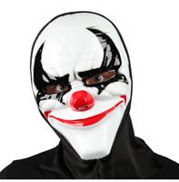 NEW Freaky Clown Mask w/Hood Scary Horror Fancy Dress Halloween Accessories
