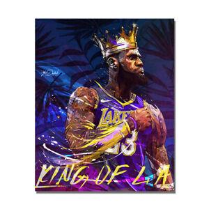 Lebron James Crown King Poster Basketball Sports Wall Art Painting HD Print