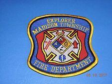 Madison Township Explorer Fire Department EMT EMS Hazmat MI OH IN Patch #C82