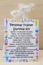 Personal Trainer Survival Kit - Unique Fun Novelty Gift & Card All In One