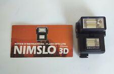 Flash Nimslo 3D Opti-Lite, Pour Appareil Photo Nimslo 3D 35mm