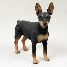 Miniature Pinscher Figurine Hand Painted Collectible Statue Black