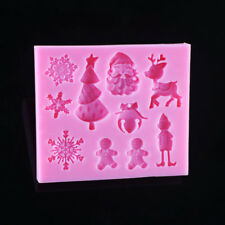 Christmas Tree Snowflake Sugarcraft Molds Decorating Baking Tool Silicone Moulds