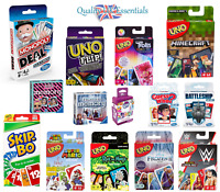 Family Card Games - Adult and Kids Fun - Monopoly Deal, Uno, Minecraft + More