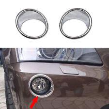 2pcs Chrome Front Fog Light Lamp Cover Upper Trim for BMW X3 F25 2011- 2017