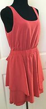 BCBGeneration Pretty Pink Sleeveless Dress SZ M Soft Flowing Party Dress Stretch