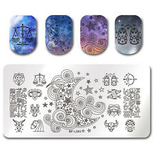 Nail Rectangle Stamping Plate Star Pattern Born Pretty Nail Art Template Decor