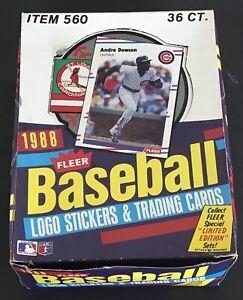 1988 Fleer Baseball Trading Cards Wax Box