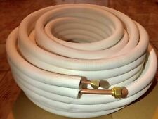 "50Feet 1/4"" X 3/8"" Flared 100% Copper Ductless Split AC Connection Line Set"