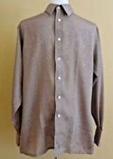 Men's Givenchy for Saks Fifth Avenue Brown Dress Button Down Shirt in size M