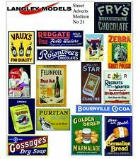 More details for street signs small paper copy enamel signs smf20n colour oo scale models decals