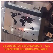 2 x R1200GS Adventure World map Pannier STICKERS Decals GRAPHICS