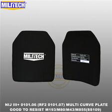 MILITECH NIJ III+/NIJ 0101.07 RF2 Alumina&PE Bulletproof Plate From Size S To XL