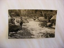 Real Photo Postcard RPPC Fishing Menominee Indian Reservation Wisconsin WI #514