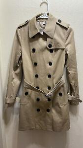 BURBERRY LONDON Trench Coat US 4 belted Nova Check Lining Women's