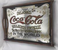 "Delicious Coca Cola Most Refreshing Drink Mirror COKE 15"" X 12"" Tray Picture B"