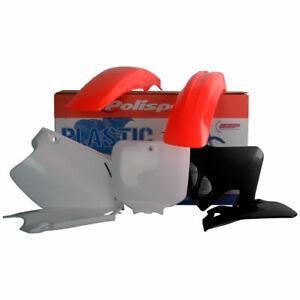 Polisport Plastic Kit Set Red Flo Honda CR125R 1995-1997 CR250R 1995-1996