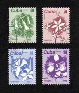Caribbean Region 1983 Flowers complete set of 4 values (SG 2966-2969) used