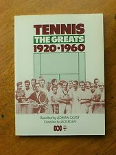 Tennis - The Greats 1920-1960 By Adrian Quist (Paperback, 1984)