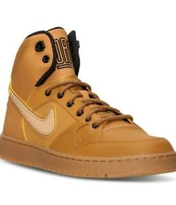 New Girls Boys Nike Son Of Force Mid Winter GS Beige Mid Ankle Boots UK Size 3