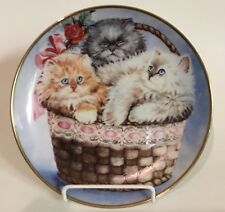 """Franklin Mint """"Three Little Kittens"""" by K. Duncan Cat Collector Plate"""