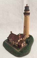 "Danbury Mint Lighthouse Grosse Point Illinois 6"" Tall"