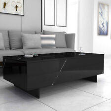 Modern White/Black Coffee Table High Gloss Rectangular Living Room Furniture