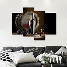 CANVAS PRINTS Painting Pictures Wall Art Photo Home Cafe Decor Wine Brown Framed