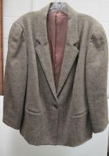 """Ladies """"Toffs"""" 1 Button Herringbone tweed Jacket Brown Size 38"""
