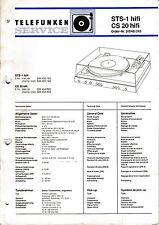 Service Manual-Anleitung für Telefunken STS-1/CS 20