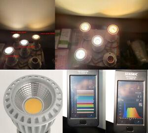High CRI RA 95+ E27 7W COB LED Bulbs LED Lamp LED Spotlight Downlight AC85V-265V