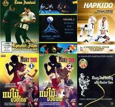 PACK 7 DVD ARTES MARCIALES, SISTEMAS DE COMBATE, HAPKIDO, KYUSHO, MMA, MUAY THAI