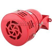 AC 110V  Red  iron+ABS Blade Mini Motor Siren  120dB Humidity 70%