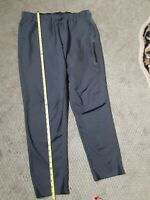 Fila Sport Mens Activewear Pants L Gray Drawstring Pockets Zippers Soft