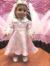 "Doll Clothes AG 18"" Nellie's Pink Dress Made To Fit American Girl Dolls"