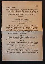 REGIO DECRETO -Soppresso ufficio per Armata e istituito nuovo Ufficio- Roma- 132