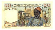 French West Africa ... P-39 ... 50 Francs ... 27-9-1944 ... *XF-AU*
