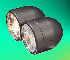 doubles phares Lampe de phare h4 12 V NOIR NOIR MAT CONTRÔLE TECHNIQUE TÜV