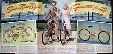 1940's Schwinn Bicycle Brochure w/ Hollywood Stars - Gene Autry & Bob Hope *