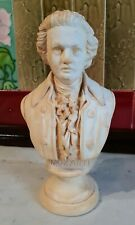 Antique Mozart Musician Chalkware Sculpture Bust Early 20th Century Signed