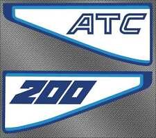 1981 81' ATC 200s Rear fender decals vintage ATV 2pc stickers graphics