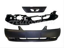 For 1999-2004 MUSTANG GT FRONT BUMPER PRIMED  HEADER PANEL GRILLE FOG LIGHT 5PC