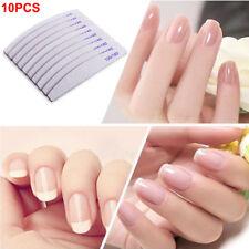 10 pcs Professional Acrylic Nail File 100/180 Grit Zebra Sanding Files HOT SALE