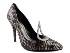 J.Renee Women's Tribute Pumps Marked Snake Print Leather Size 6.5 M