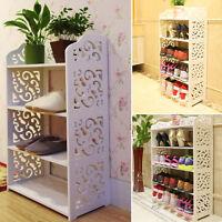 Shoe Rack Organizer wood Storage Standing Shelf Bookcase Cabinet Space Saving